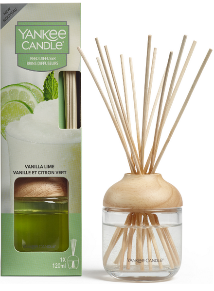 Yankee Candle Yankee Candle Vanilla Lime Reed Diffuser Geurstokjes