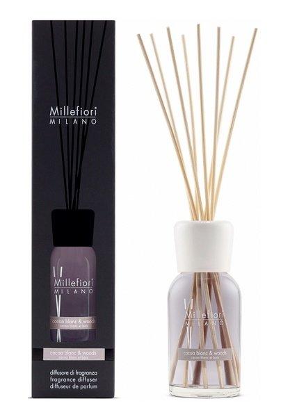 Millefiori Milano  Millefiori Cocoa Blanc & Woods Geurstokjes 250ml