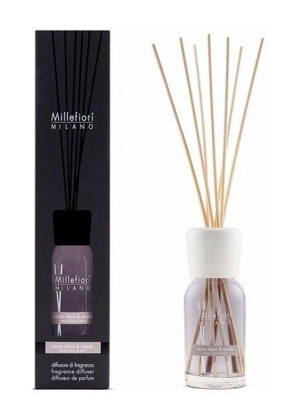 Millefiori Milano  Millefiori Cocoa Blanc & Woods Geurstokjes 100 ml