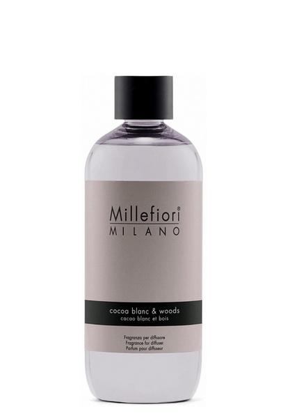 Millefiori Milano  Millefiori Milano Cocoa Blanc & Woods Navulling Natural 250 ml -