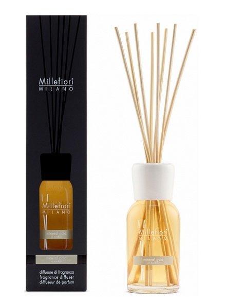 Millefiori Milano  Millefiori Mineral Gold Geurstokjes 250 ml