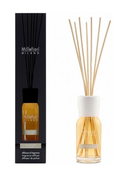 Millefiori Milano  Millefiori Milano Mineral Gold Geurstokjes Natural 100 ml