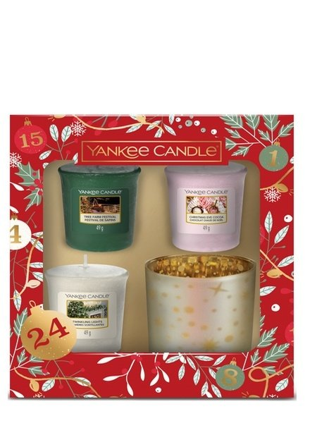 Yankee Candle Countdown to Christmas 3 Votives & Holder Giftset