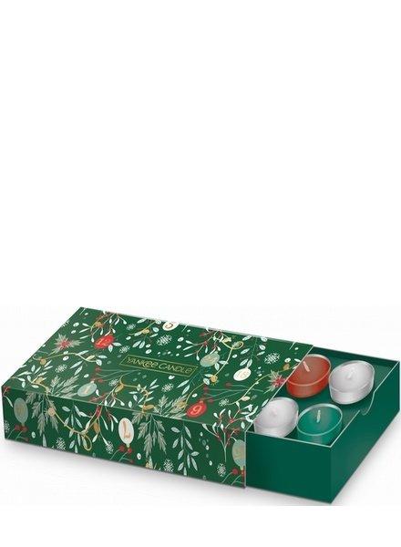 Yankee Candle Countdown to Christmas 10 Tea Lights & Holder Giftset