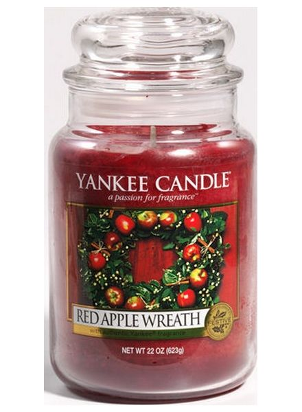 Yankee Candle Yanke Candle Red Apple Wreath Large Jar