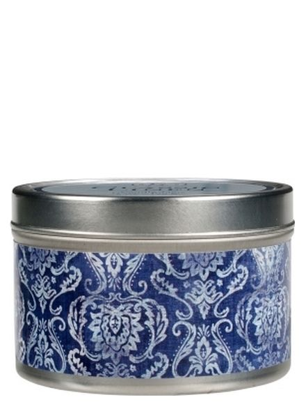 Greenleaf Candle Tin Linen
