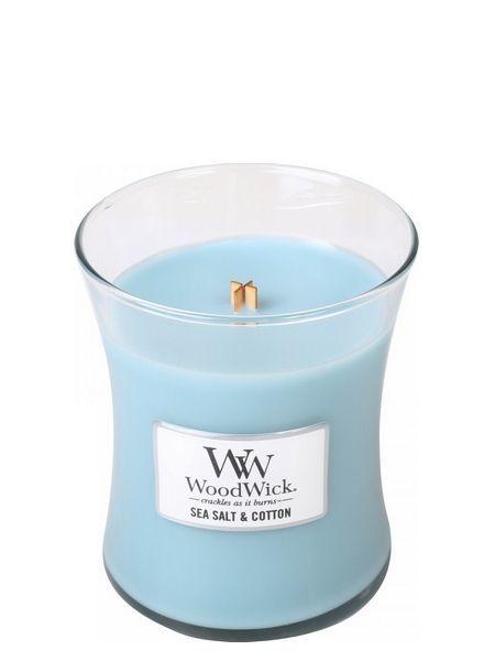 Woodwick Medium Sea Salt & Cotton