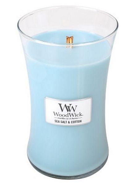 Woodwick WoodWick Sea Salt & Cotton Large Candle