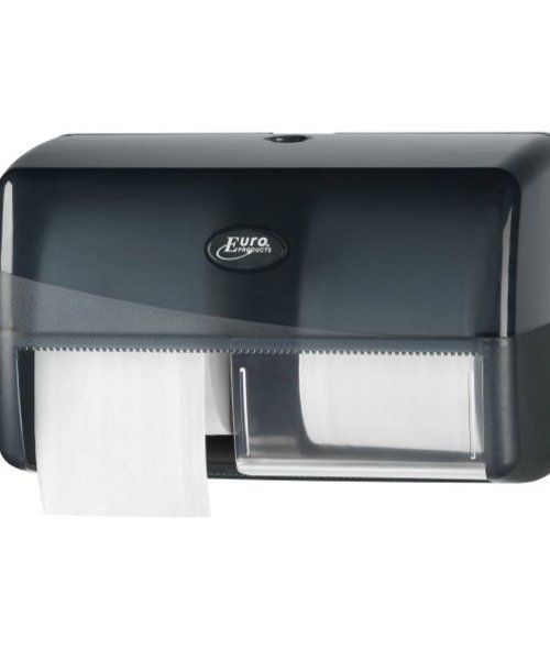 Euro Products Pearl Black Duo Coreless Toiletrolhouder