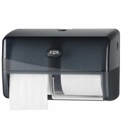 Pearl Black Duo Compact Toiletrolhouder