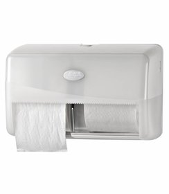 Pearl White Duo Compact Toiletrolhouder