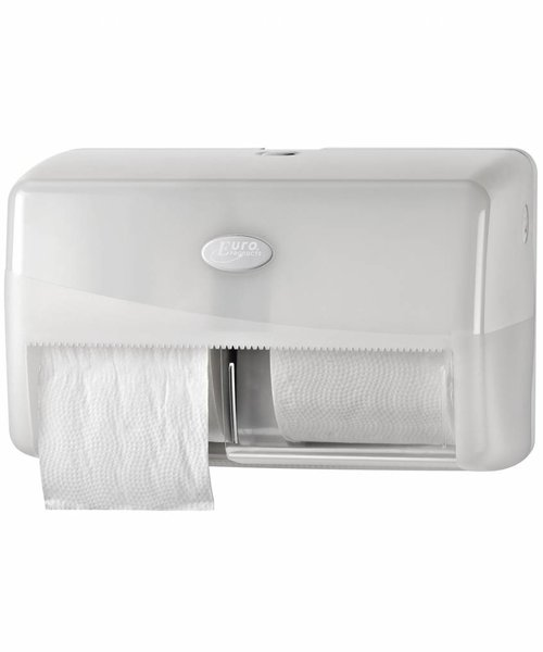 Euro Products Pearl White Duo Compact Toiletrolhouder