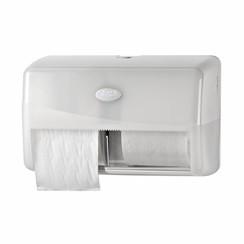 Pearl White Duo Coreless Toiletrolhouder