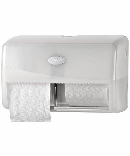 Euro Products Pearl White Duo Coreless Toiletrolhouder