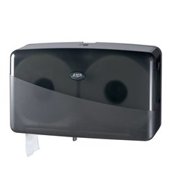 Pearl Black Duo Mini Jumbo Toiletroldispenser