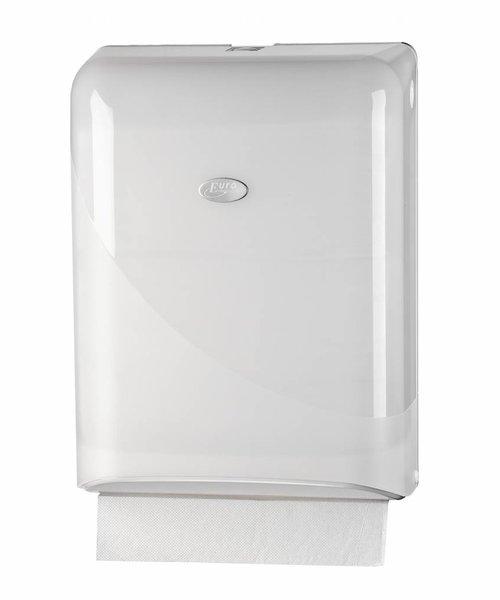Euro Products Pearl White Interfold, Z-fold Handdoekdispenser