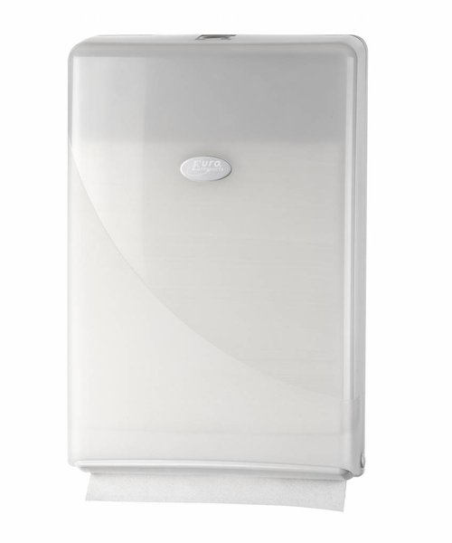 Euro Products Pearl White Minifold Handdoekdispenser