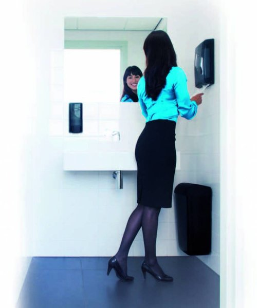 Euro Products Pearl Black Multifold, C-fold Handdoekdispenser