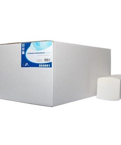 HYSCON Handdoekpapier Z-Vouw Flushable 2 lgs 16x199 stuks