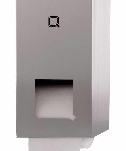 Qbicline Toiletrolhouder 2-rols RVS
