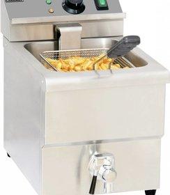 Elektrische friteuse aftapkraan 8 liter