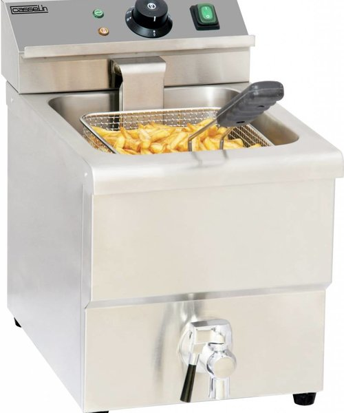 Casselin Elektrische friteuse aftapkraan 8 liter