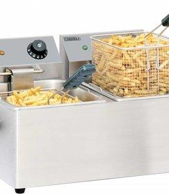 Elektrische friteuse 2 x 4 liter