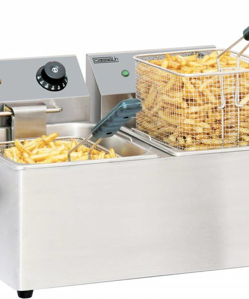 Casselin Elektrische friteuse 2 x 4 liter