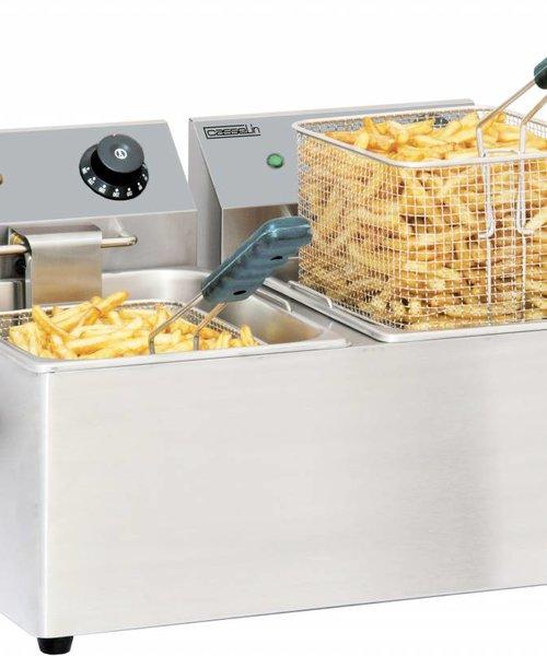 Casselin Elektrische friteuse 2 x 8 liter