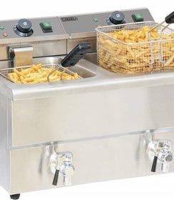 Elektrische friteuse aftapkraan 2 x 8 liter