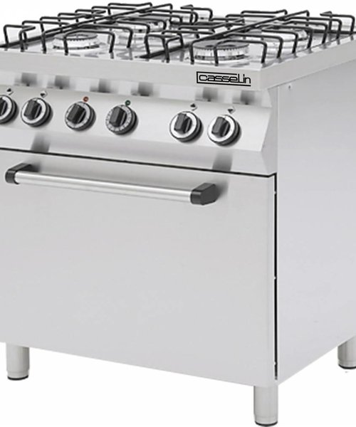 Casselin Gasfornuis 4 pits met elektrische oven
