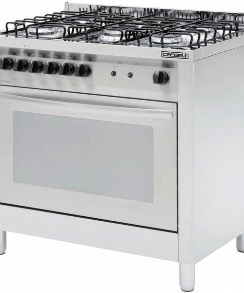 Casselin Gasfornuis 5 pits met elektrische oven