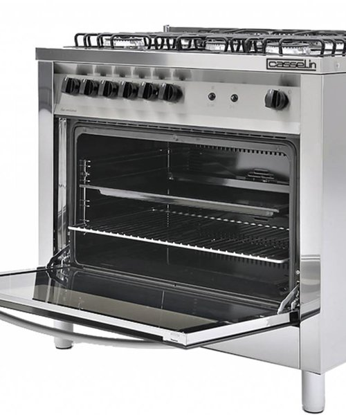 Casselin Gasfornuis 5 pits met gas oven
