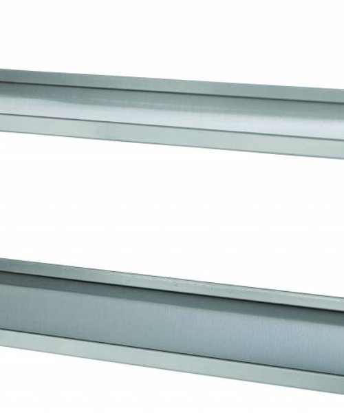 Casselin Set van 2 RVS wandplanken 600 mm