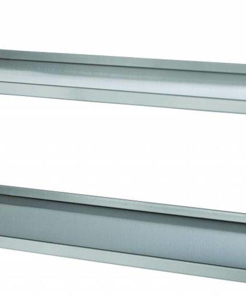 Casselin Set van 2 RVS wandplanken 2000 mm