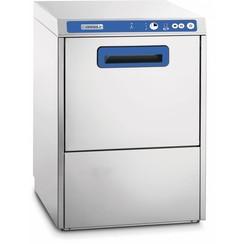 Glazenwasmachine dubbelwandig met waterontharder en afvoerpomp