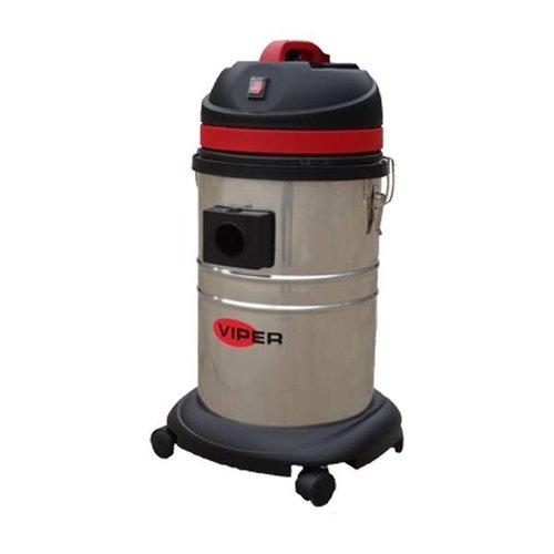 Nilfisk-Viper Stof-/waterzuiger 35 liter, 1000 Watt - 1 motorig, 7 meter electriciteitssnoer oranje, RVS container