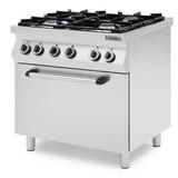 Casselin Gasfornuis 4 pits met elektrische oven - Gietijzer