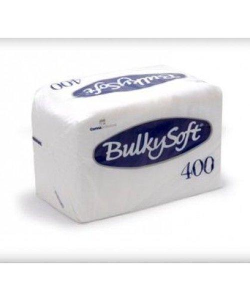 Bulky Soft Servetten 1 Laags 27 x 30 - 1/4 Vouw - 400 x 10 stuks per doos