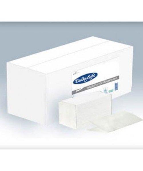 Bulky Soft Servetten 2 Laags 19 x 14,5 - 1/2 Vouw - 200 x 24 stuks per doos