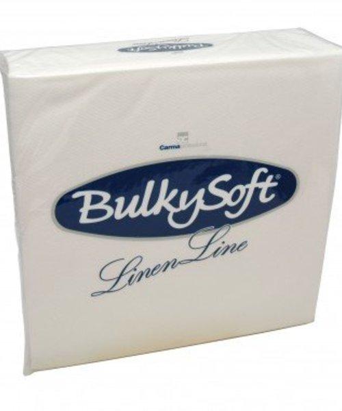 Bulky Soft Airlaid Servetten 50 x 50 - 1/4 Vouw - Wit - 50 x 6 stuks per doos