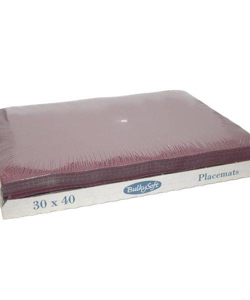 Bulky Soft Placemats 30 x 40 - Bordeaux - 8 folies van 250 stuks per doos