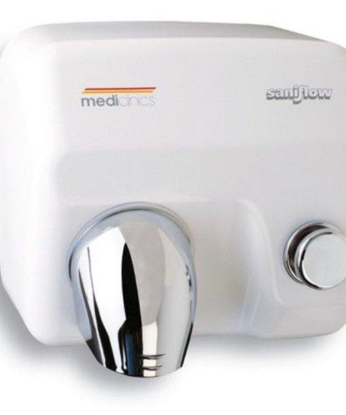 Mediclinics Handendroger Saniflow E05 drukknop wit