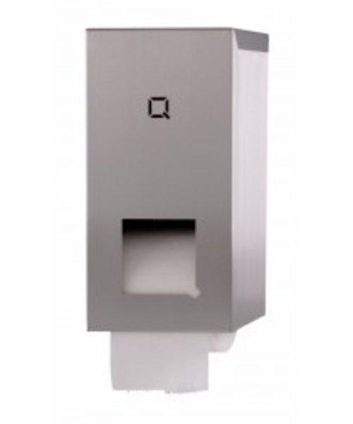 Qbicline Toiletrolhouder 2-rols coreless rollen RVS