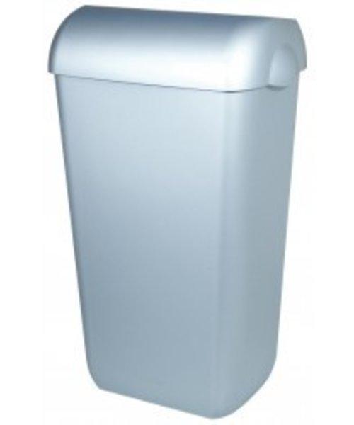 PlastiQline Afvalbak RVS-look 23 ltr