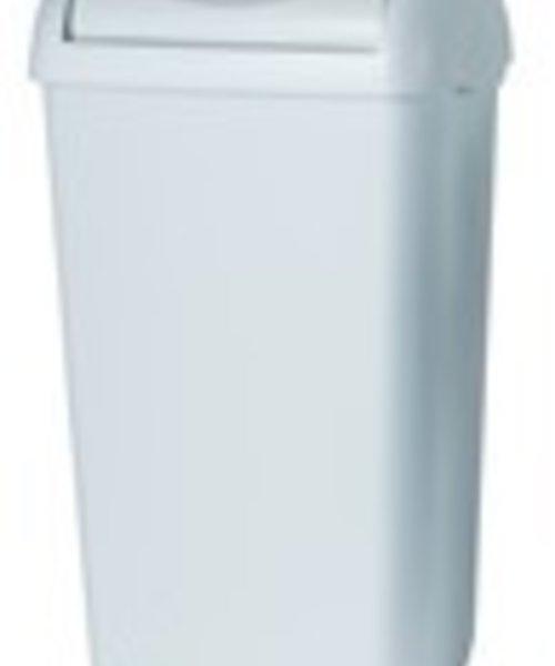 PlastiQline Afvalbak wit met swing deksel