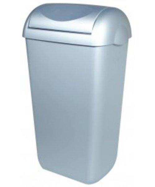 PlastiQline Afvalbak RVS-look swing deksel 23 lrt