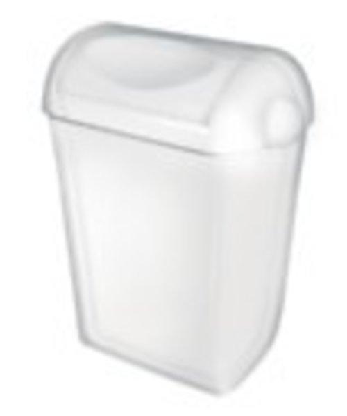 PlastiQline Afvalbak wit swing deksel 43 ltr