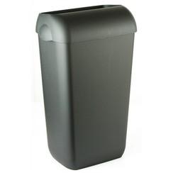 Afvalbak half open zwart 23 ltr