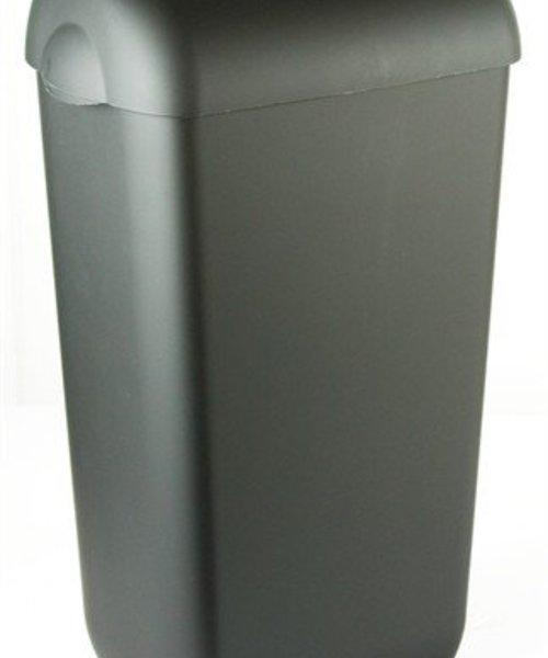 PlastiQline Exclusive Afvalbak half open zwart 23 ltr